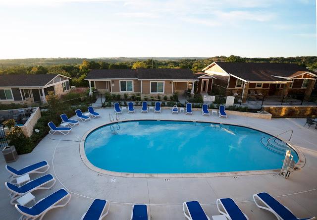 Pool and scenic views at Carter Creek Resort and Spa